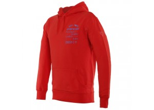 Dainese PADDOCK Hoodie Lava-Red/Sky-Diver