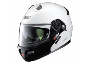 Helmet Flip-Up Full-Face Grex G9.1 Evolve Couplè 20 Metal White
