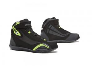 Shoes Moto Forma Urban Leather Waterproof Genesis Black Yellow Fluo