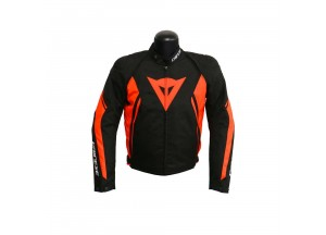 Jacket Dainese Tex Avro D2 Black/Black/Red-Fluo