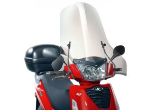 137A - Givi screen transparent 64x71cm Kymco People S 50-125-200 (05 > 15)