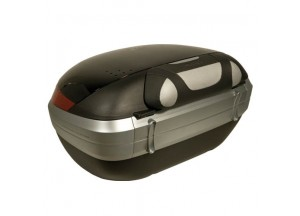E111 - Givi Specific backrest covered with black/grey synthetic leather E55/V56