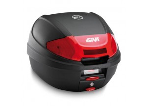 E300N2 - Givi Top Case Monolock 30lt Black/Red Reflectors