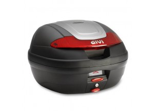 E340N - Givi Top Case Monolock E340 VISION 40lt Black/Red Reflectors