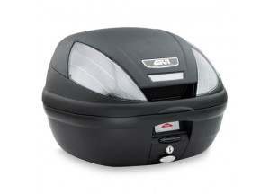 E370NT - Givi Top Case Monolock E370 TECH 39lt Black/Smoked Reflectors