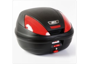 E370N - Givi Top Case Monolock E370 39lt Black/Red Reflectors