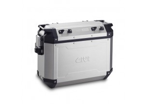 OBKN37AL - Givi Left Trekker Outback natural aluminium side-case, 37 ltr