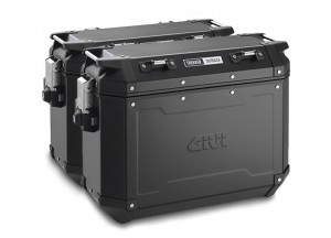OBKN37BPACK2 - Givi Couple Trekker Outback Black Line side case 37ltr