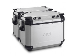 OBKN48APACK2 - Givi Couple Trekker Outback natural aluminium side-case, 48 ltr