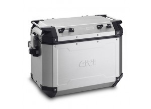 OBKN48AR - Givi Right Trekker Outback natural aluminium side-case, 48 ltr