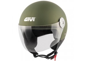 Helmet Jet Givi 10.7 Mini-J Solid Colour Military Metallic Matt Green
