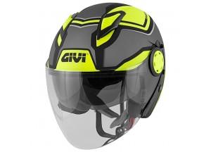 Helmet Jet Givi 12.3 Stratos SHADE Matt Titanium Black Yellow