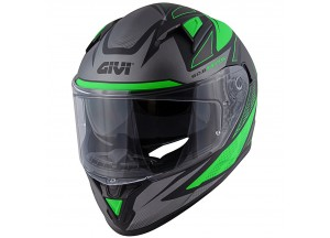 Helmet Full-Face Givi 50.6 Stoccarda Follow Matt Black Green Titanium
