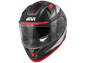Helmet Full-Face Givi 50.6 Stoccarda Follow Matt Titanium Silver Red