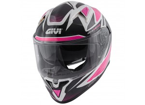 Helmet Full-Face Givi 50.6 Stoccarda Follow Lady Black White Fuchsia
