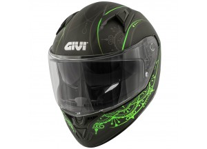 Helmet Full-Face Givi 50.6 Stoccarda Mendhi Black Green