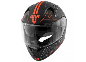 Helmet Full-Face Givi 50.6 Stoccarda Splinter Matt Black Red