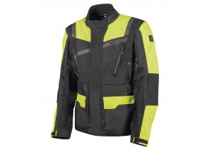 Jacket Hevik 2 Layers Stelvio Black Fluo-Yellow