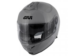 Helmet Modular Openable Givi X.20 Expedition Solid Color Glossy Grey