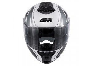 Helmet Modular Openable Givi X.21 Challenger Shiver Graphic White Titanium Black