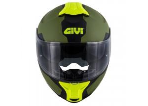 Helmet Modular Openable Givi X.21 Challenger Spirit Matt Green Black Yellow