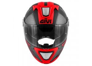 Helmet Modular Openable Givi X.23 Sydney Protect Matt Black Titanium Red