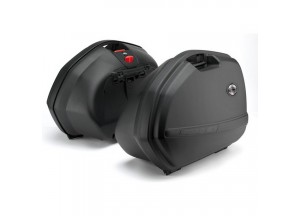 K33N - Kappa Pair of panniers MONOKEY® capacity 33 ltr. black colour