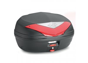 K466N - Kappa MONOLOCK Top-case 46 ltr. black with red reflectors