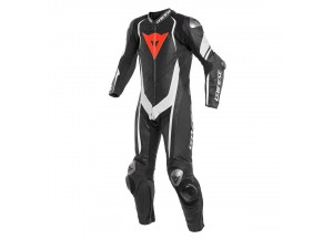 Leather Suit Dainese Kyalami 1PC Professional Estiva Black/White/White