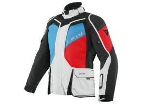 Motorcycle Jacket Man Dainese Gore-Tex D-Explorer 2 Black Gray Blue Lava-Red