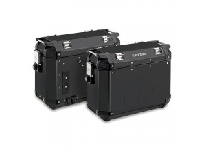 KVE37BPACK2 - Kappa Pair of side-cases capacity 37 ltr MONOKEY® K-VENTURE Black