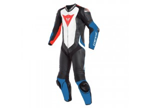 Leather Suit Dainese Laguna Seca 4 1PC Perforated Black White Light Blue
