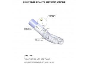 16007 - Exhaust Manifold LeoVince catalysed YAMAHA MT-07 /  XSR 700