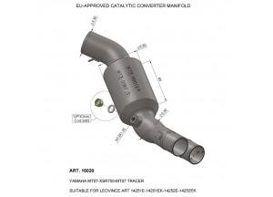 16020 - Exhaust Manifold LeoVince catalysed YAMAHA MT-07 / FZ-07 / XSR 700