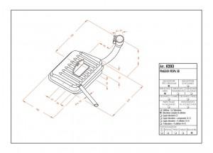0203 - Muffler Leovince Sito 2-STROKE Vespa 58