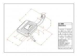 0204 - Muffler Leovince Sito 2-STROKE VESPA GL