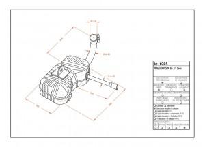 0205 - Muffler Leovince Sito 2-STROKE VESPA GS 3a SERIE