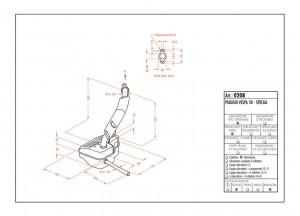0208 - Muffler Leovince Sito 2-STROKE VESPA 50 - SPECIAL - 125 PRIMAVERA