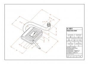0211 - Muffler Leovince Sito 2-STROKE VESPA SPRINT