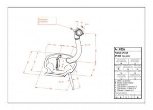 0226 - Muffler Leovince Sito 2-STROKE Piaggio APE CAR - APE 601 (TIPO PIATTO)