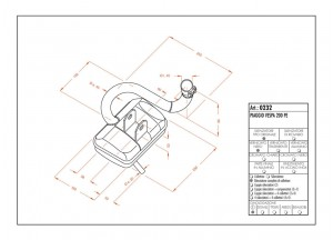 0232 - Muffler Leovince Sito 2-STROKE VESPA 200 PE