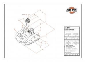 0243 - Muffler Leovince Sito 2-STROKE VESPA 125 T5