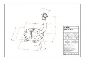 0245 - Muffler Leovince Sito 2-STROKE Piaggio APE TM 703