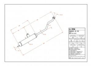0246 - Muffler Leovince Sito 2-STROKE Piaggio SI KS FL2 BOSS