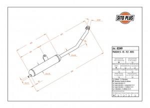 0249 - Muffler Leovince Sito 2-STROKE Piaggio SI KS FL2 BOSS