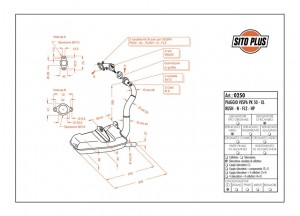 0250 - Muffler Leovince Sito 2-STROKE VESPA PK 50 - XL - RUSH - N - FL2 - HP