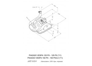 0254 - Muffler Leovince Sito 2-STROKE VESPA 125 PX