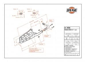 0256 - Muffler Leovince Sito 2-STROKE Piaggio SFERA 50 (1a serie - fino al 1994)