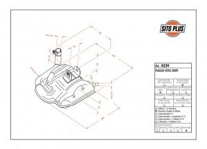 0259 - Muffler Leovince Sito 2-STROKE VESPA 200 PE