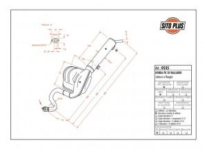 0535 - Muffler Leovince Sito 2-STROKE Honda PK 50 WALLAROO